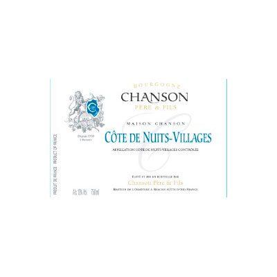 Côtes de Nuits villages Chanson 2012